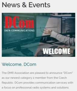 The DMR Association welcomed DCom as a new member